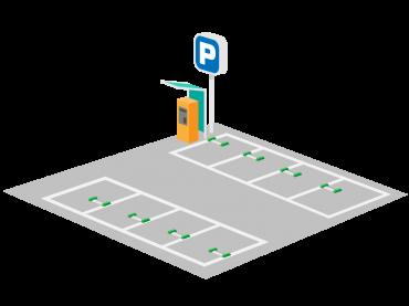 コインパーキング(時間貸し駐車場)のイラスト