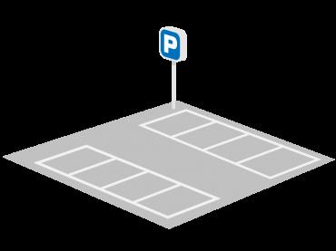 月極駐車場のイラスト